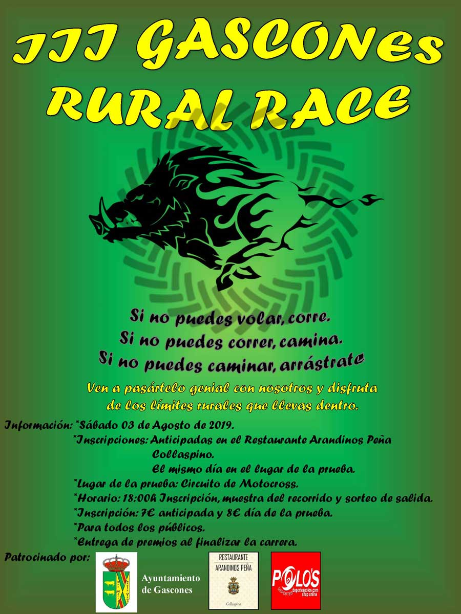Cartel Carrera Rural